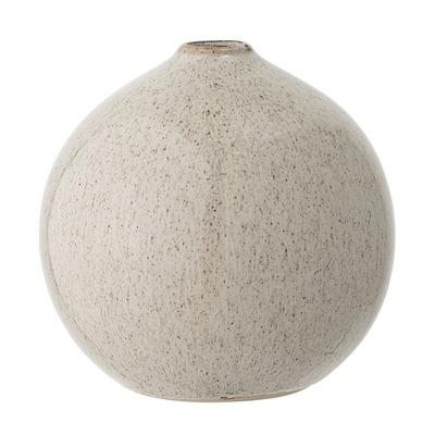 Vase Steinzeug rund gesprenkelt H12 von