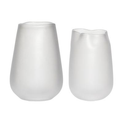 Vase glas weiß 2er Set von