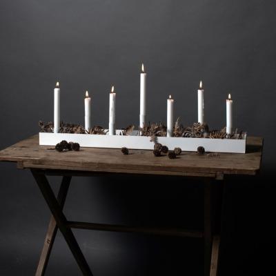 Kerzenhalter SUND weiß 80cm von STOREFACTORY