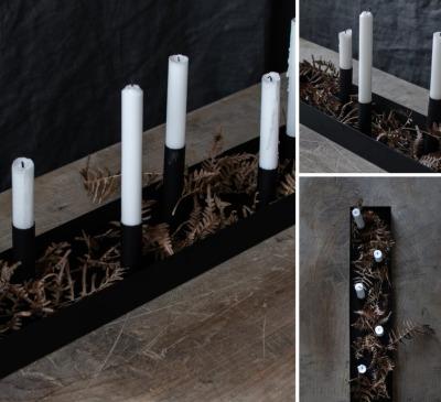 Kerzenhalter SUND schwarz 80cm von STOREFACTORY