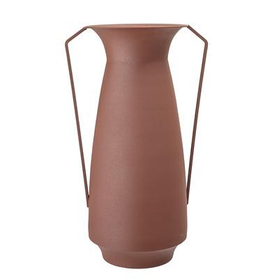 Vase braun Metal mit Henkeln Eisen