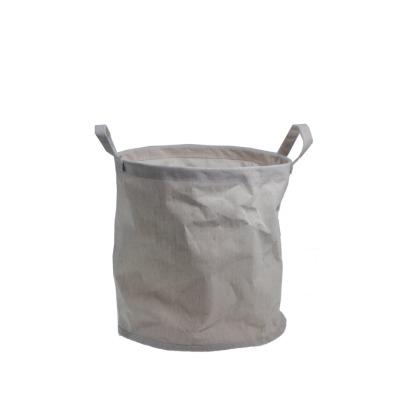 kleiner Papierkorb HAGEN mit Henkeln beige