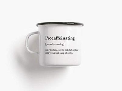 Emaille Becher procaffeinating - 300ml