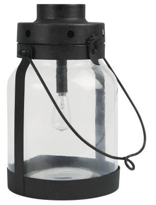 LED Laterne mit Metallboden klein Ib
