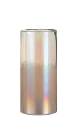 hohe Vase aus dickem Glas groß
