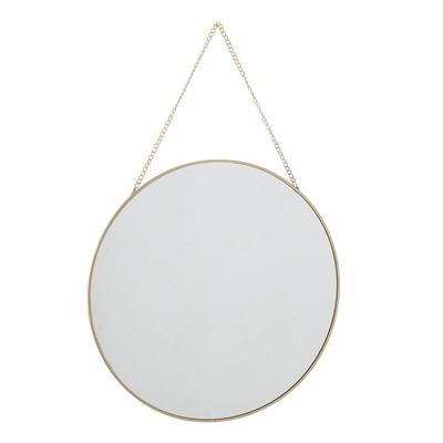 Spiegel rund Eisen/goldfarben D38cm von Bloomingville