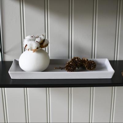 Keramiktablett hellgrau eckig von Storefactory Scandinavia