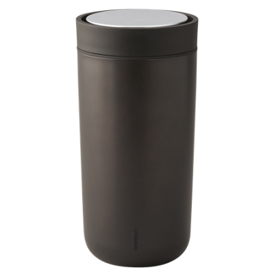 To go Becher Click braun metallic