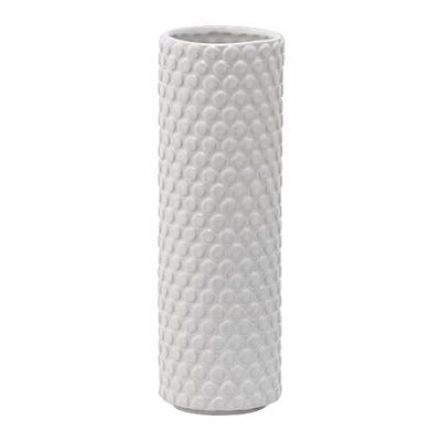 Vase weiß Steinzeug Punkte groß von