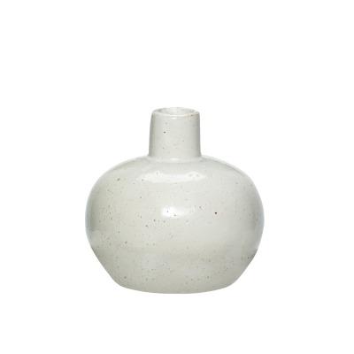 bauchige Vase aus Porzellan weiß von