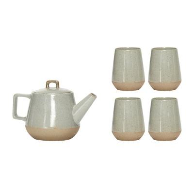 Teekannenset mit 4 Bechern - von