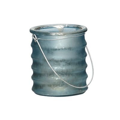 Hängeglas mit Rillen, Glas, dunkelblau matt - von HÜBSCH