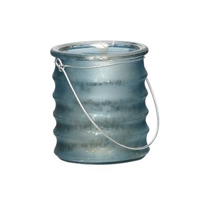 Hängeglas mit Rillen Glas dunkelblau matt