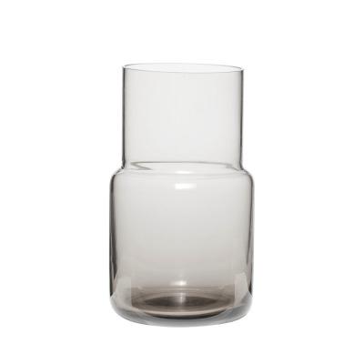 Vase Glas grau - von HÜBSCH