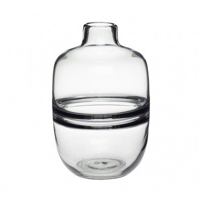 Vase Glas rauchfarben - von HÜBSCH