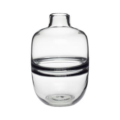 Vase, Glas, rauchfarben - von HÜBSCH