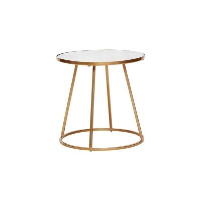 Tisch Metall/Marmor weiß/gold - von HÜBSCH