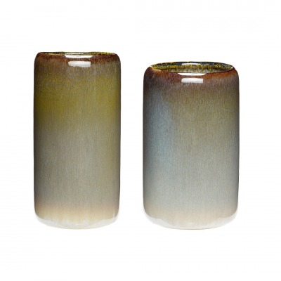 2er Vasenset Keramik/Stein - von HÜBSCH