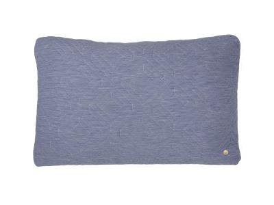 Kissen - Quilt Cushion - hellblau - 60 x 40cm - von Ferm Living