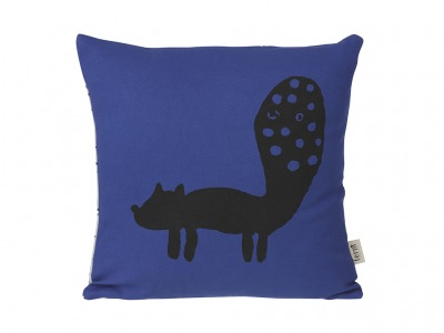 Kissen - Fuchs - blau - von Ferm Living