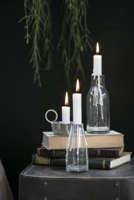Flasche mit losem Kerzenhalter für Stabkerzen