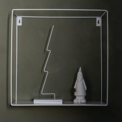 Gran- Metalldekoration / weiß - von
