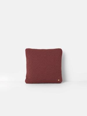 Kissen Quilt Cushion Rust 45x45cm von