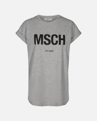 Alva MSCH EST T-Shirt - grau/schwarz