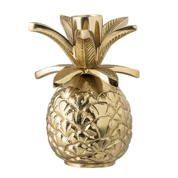 Kerzenhalter Ananas - Gold Aluminium