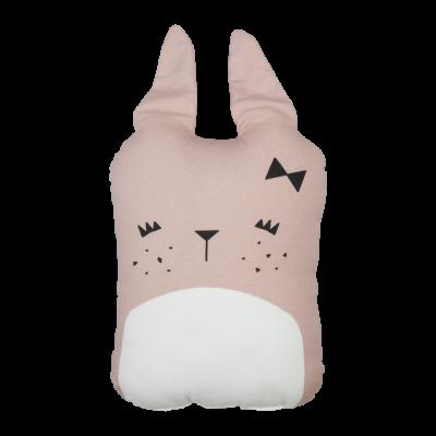 Tierkissen - cute bunny - mauve