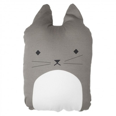 Tierkissen - cuddly cat - grau