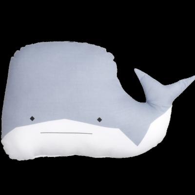 Tierkissen - whitty whale - blau