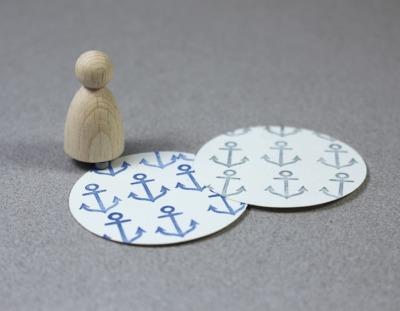 Stempel Anker fein klein von Perlenfischer
