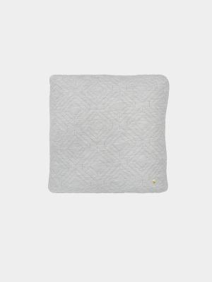 Kissen - Quilt Cushion - hellgrau - 45x45cm - von Ferm Living