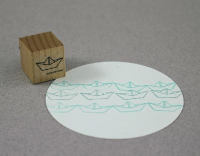 Stempel Papierschiff - Stempel Papierschiff