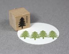 Stempel Tannenbaum mit Punkte Stempel Tannenbaum