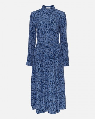 Kleid Beatrice Jalina blau mit floralem