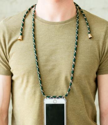 Smartphone Halskette - iPhone 7/8 - camouflage - von XouXou