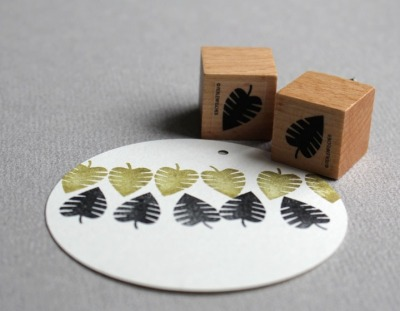 Stempel Blatt - von Perlenfischer