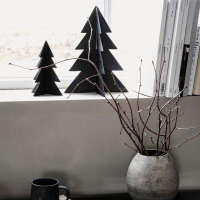 Weihnachtsbaum Glizz schwarz H: 17cm von