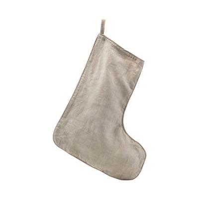 Weihnachtsstrumpf groß grau B: 37cm H: