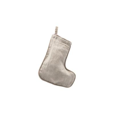 Weihnachtsstrumpf, klein, grau - B: 16,5 x H: 20,5cm