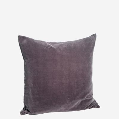 Kissenbezug Velvet dunkellila - 50x50 cm