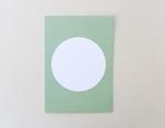 Postkarte Kreis Pastell Grün sehr gut