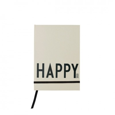 Kalenderbuch Happy cool grey beige cm