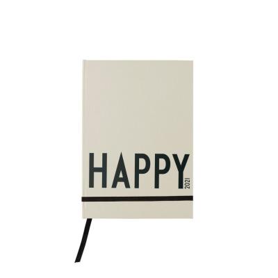 Kalenderbuch Happy cool grey beige cm