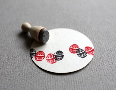 Stempel Osterei Muster 5 mini -