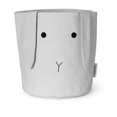 Stoff Korb Hase - dumbo grey
