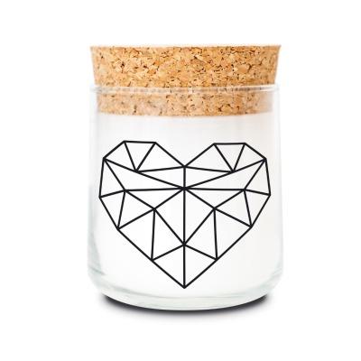 Duftkerze Geometrie heart lemongrass von feelgooodcandle