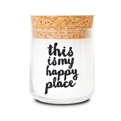 Duftkerze this is my happy place lavendel - von feelgooodcandle